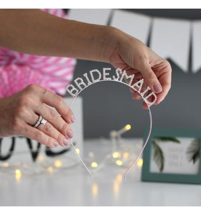 BRIDESMAID TAŞ HARF UYGULAMALI NEDİME TAÇ AKSESUAR
