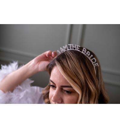 I AM THE BRIDE TAŞ HARF UYGULAMALI GELİN TAÇ AKSESUAR