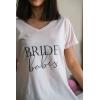 SİYAH BRIDE BABES BASKI DETAYLI PEMBE NEDİME TİŞORT