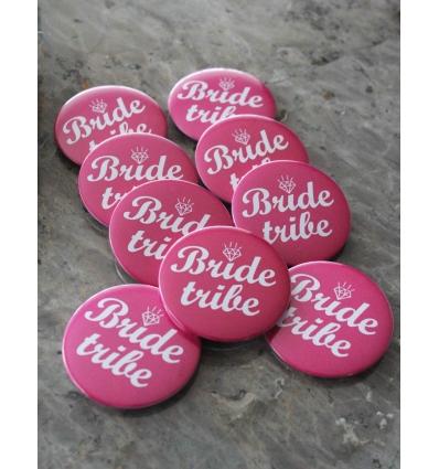 IŞILTILI PEMBE ZEMİN DETAYLI BRIDE TRIBE İĞNELİ ROZET