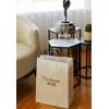 İsim Baskılı Hediyelik Beyaz Karton Çanta