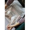 Gümüş Bride Ve İsim Nakış İşlemeli Gelin Mayosu