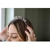 Bride To Be Harfli Taşlı Taç Aksesuar