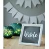 BASKILI ESKİTME AHŞAP BRIDE-GROOM LEVHA TAKIMI